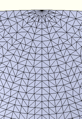 Detail of the 12 body sphere at 3 inch mesh size.