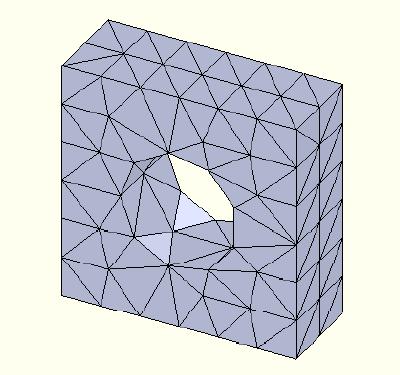 FEA model 1st order mesh