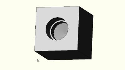 Manifold block with NPT hole.