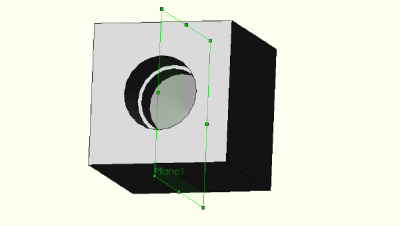Manifold block with reference geometry plane.