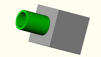 Manifold block revolved image.