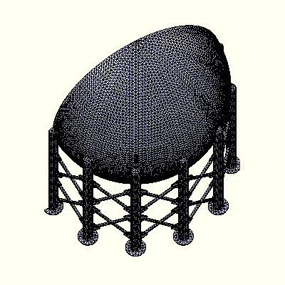 5 inch mesh size for split sphere