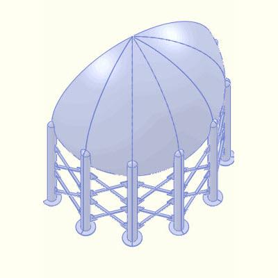 Sphere split into 6 bodies.