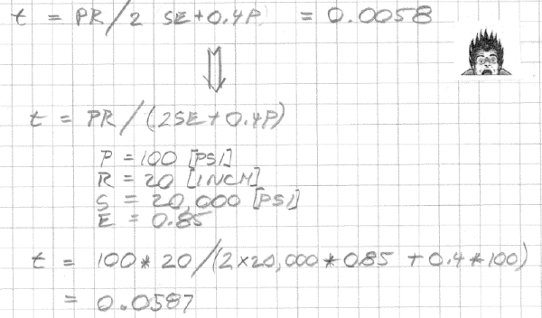 Calculations showing where the numbers come from.