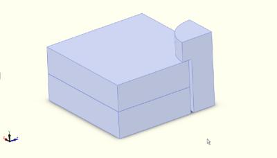 Solid model of test shape