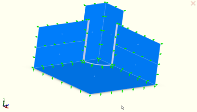 Model with symmetry boundary conditions applied.