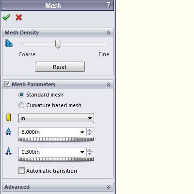 Standard mesh fails
