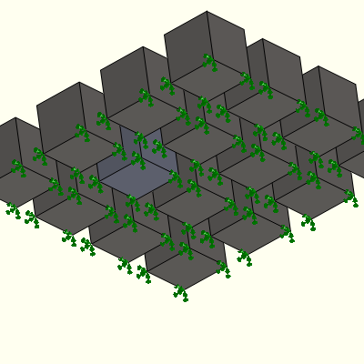 SolidWorks Model 1x1x1 inch cubes