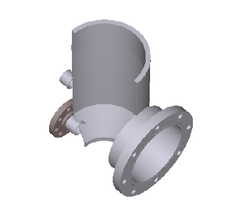 Sample solid model of a pressure vessel with a large opening