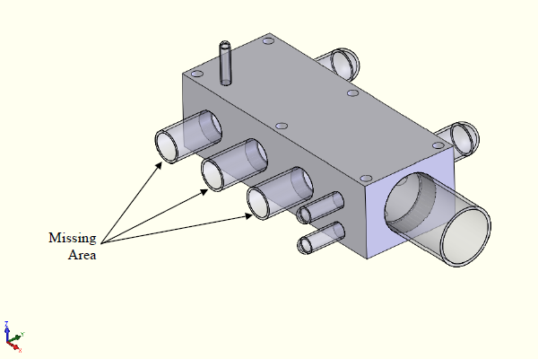 FEA model with unbalanced internal areas