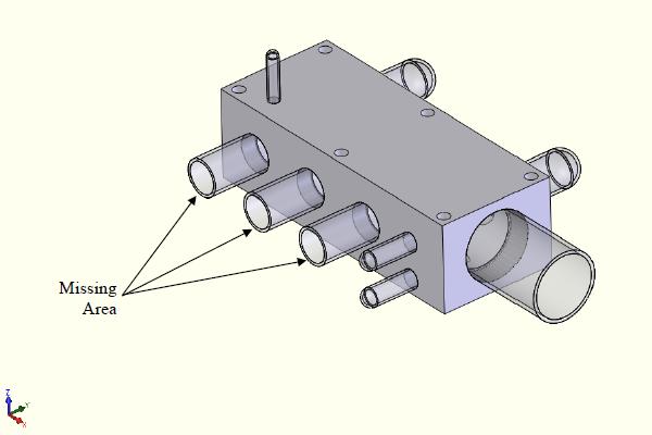 FEA model with unbalanced internal areas