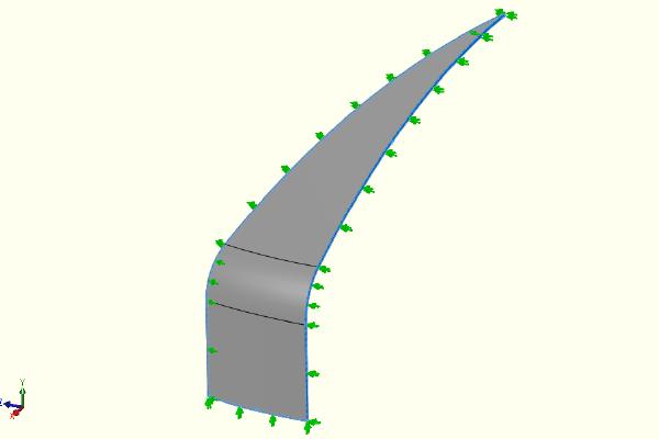 "alt=""FEA model showing restraints"""