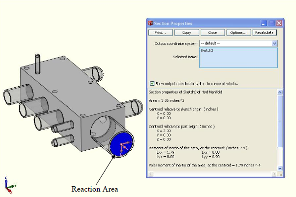 FEA model - multiplying reaction area by pressure.