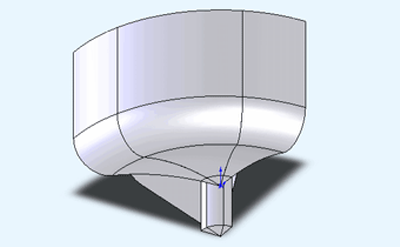 Plate model - top view.