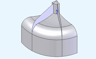 Plate model - bottom view.