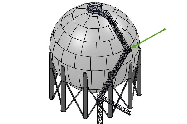 Solid Model of Spherical Pressure Vessel