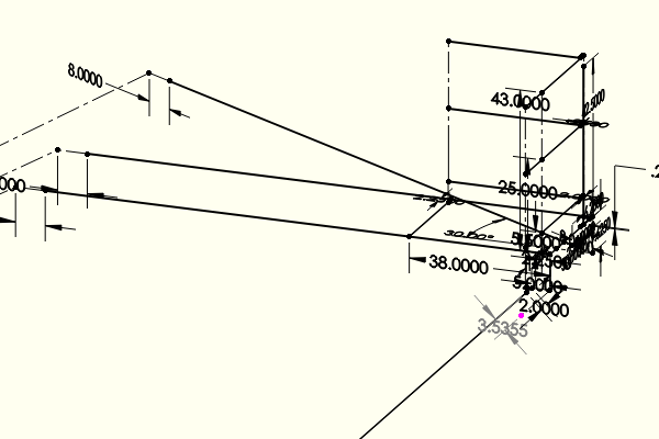Sketch of Stairway Landing with Dimensions