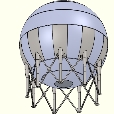 The experimental sphere subject of this report