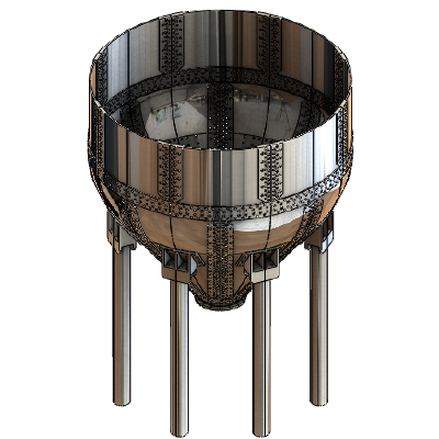 Solid Model of the Digester