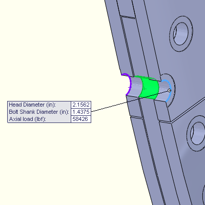 Cross Sectional View of the Rivet