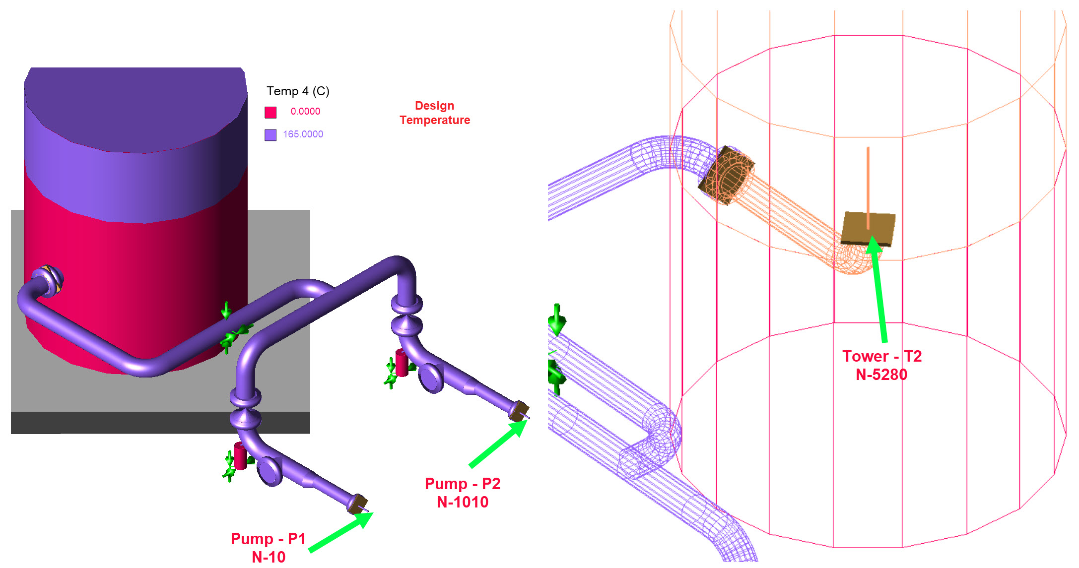 Pipe Stress Analysis Sample Report Pressure Vessel Engineering Piping Layout Tools Model Created In Caesar Ii All Materials Sizes Dimensions And Conditions Have Been Loaded